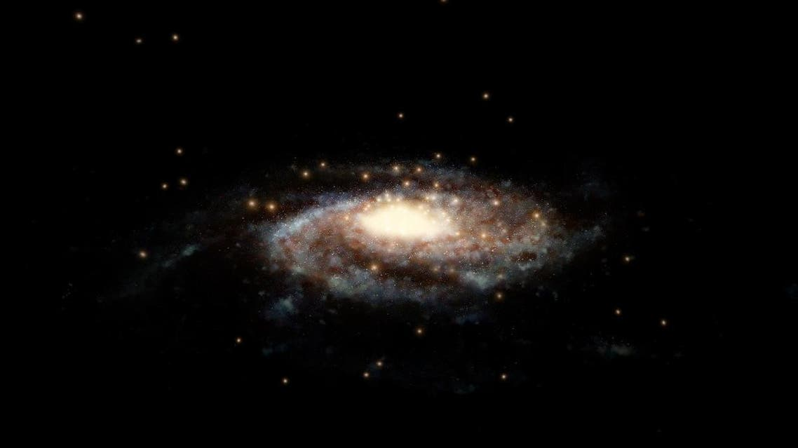 A handout photo released by the European Space Agency on March 7, 2019, shows an artist's impression of a computer generated model of the Milky Way. (AFP)