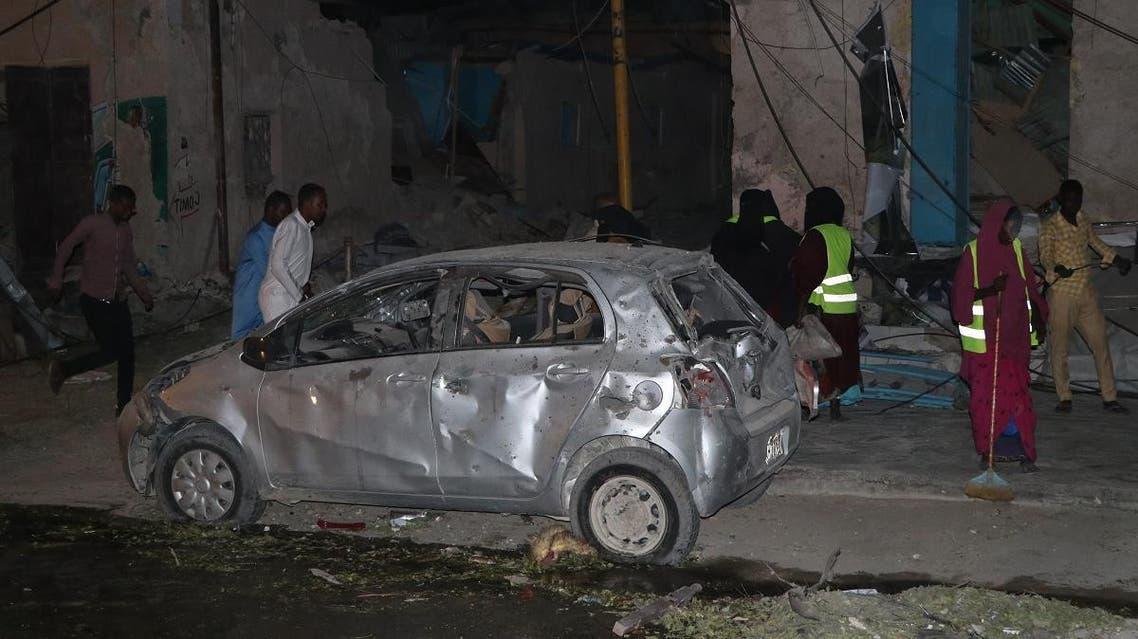 Somalia Mogadishu explosion (AFP)