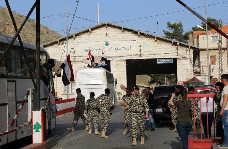 من معبر المصنع الحدودي بين لبنان وسوريا