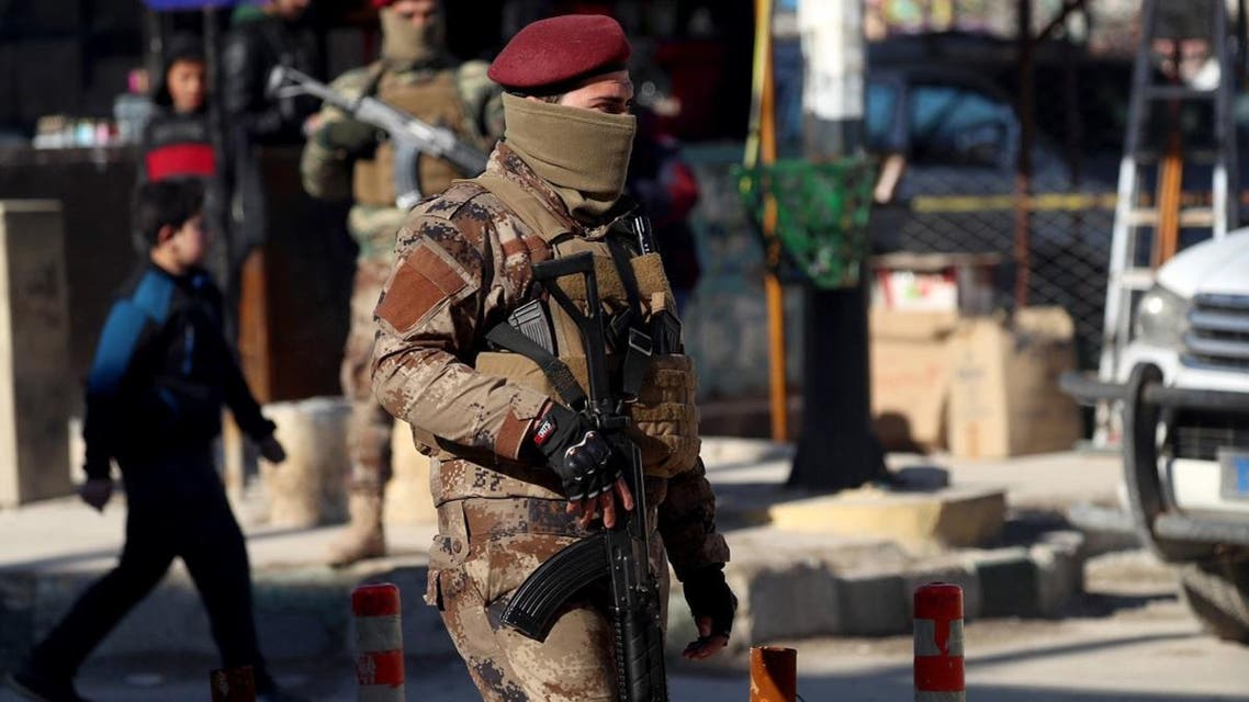 A member of the Manbij military council stands guard the street in the northern Syrian town of Manbij. (File photo: AFP)