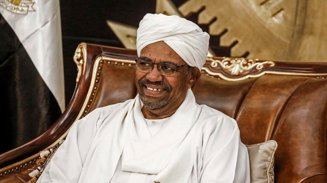 Sudanese President Omar al-Bashir chairs a meeting of leaders of some political parties in the capital Khartoum on March 7, 2019. (AFP)