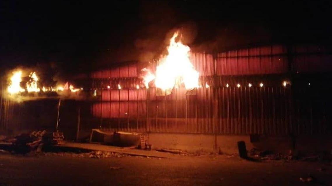 قصف مجمع اخوان ثابت