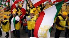 واشنگٹن میں سیکڑوں افراد کا احتجاجی مظاہرہ ، ایران میں نظام کی تبدیلی کا مطالبہ