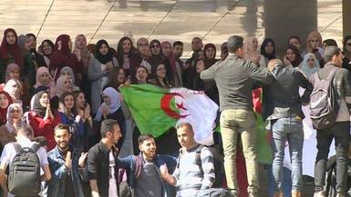 تلاميذ الثانويات يحتشدون بالشوارع رفضا لترشح بوتفليقة