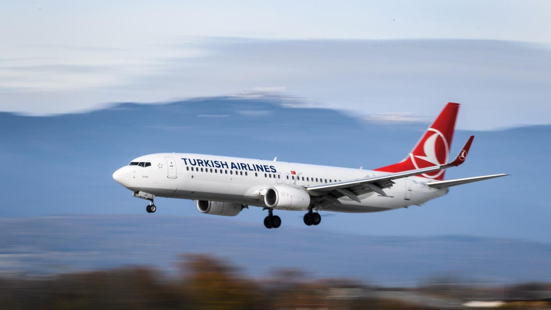 A Boeing 737-800 commercial plane of Turkish Airlines landing at Geneva Airport on November 20, 2017. (File photo: AFP)