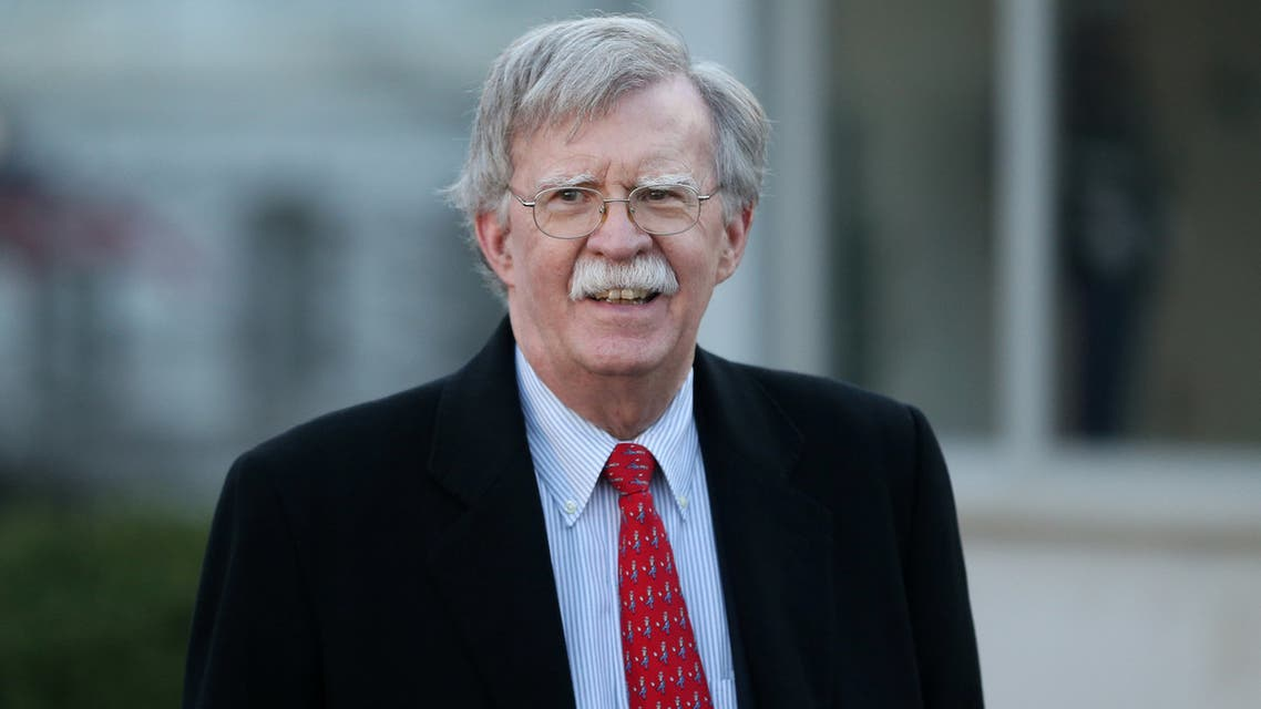 U.S. National Security Adviser John Bolton walks to a Fox News interview outside of the White House in Washington, U.S., March 5, 2019. REUTERS/Leah Millis