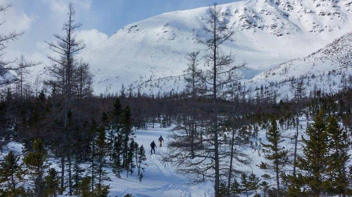 Backcountry skiers hike the Chic-Choc mountains in the region of Gaspésie in Quebec, Canada, on March 2, 2019. (File photo: AFP)