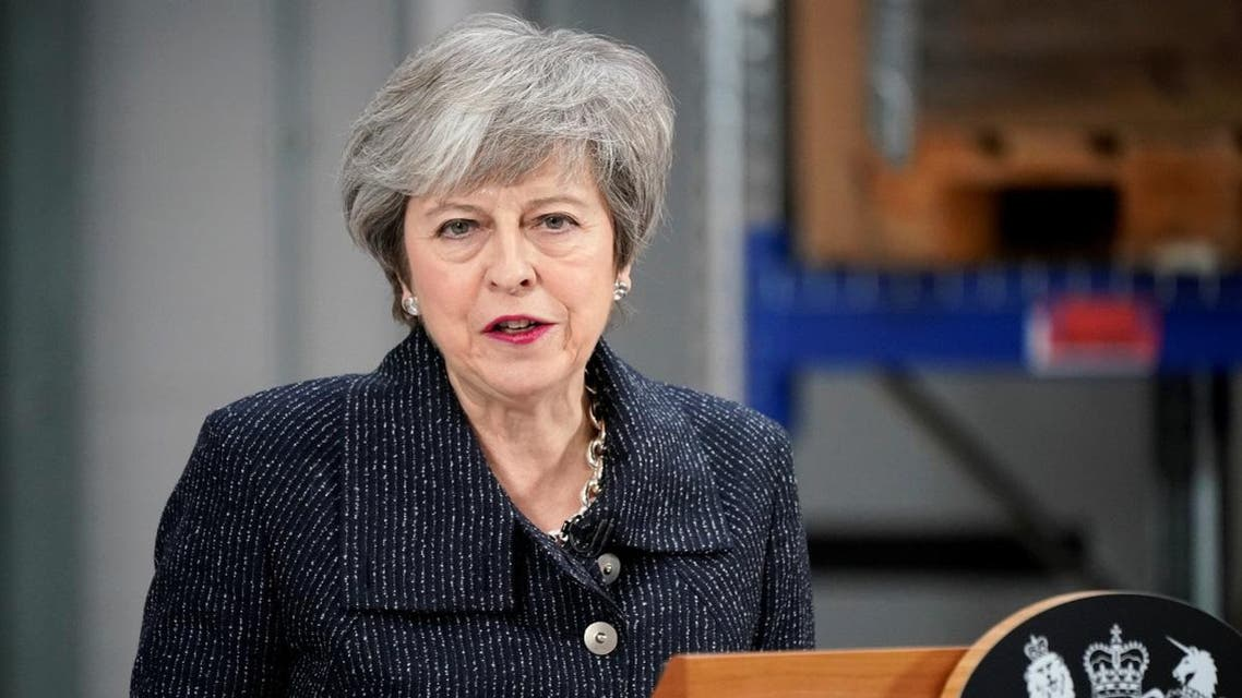 Prime Minister Theresa May speaks on Brexit ahead of next week's vote in Parliament on her revised Brexit deal in Grimsby. (Reuters)