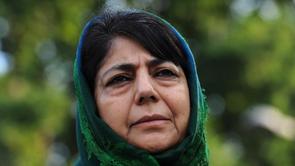 Mehbooba Mufti was the chief minister of Jammu and Kashmir from early 2014 to June last year. (File photo: AFP)