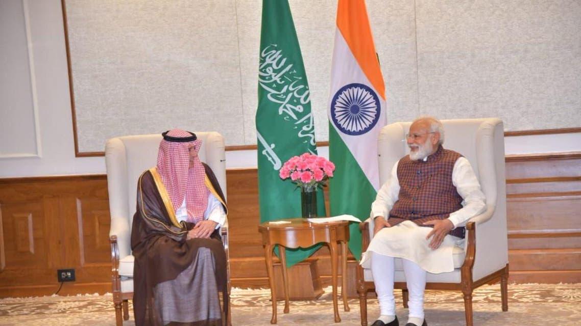 Adel al-Jubeir and Modi (Supplied)