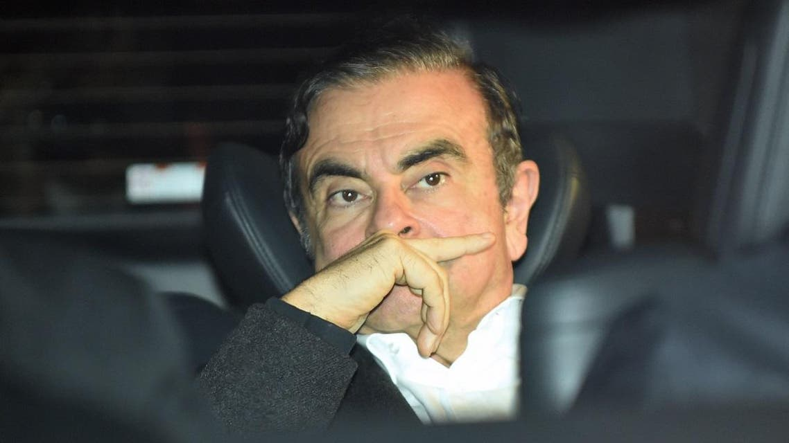 Former Nissan chairman Carlos Ghosn leaves his lawyers' offices after he was released. (File photo: AFP)