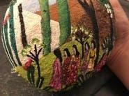 شاهد شابة سعودية تُنطق الحجر فنون الرسم
