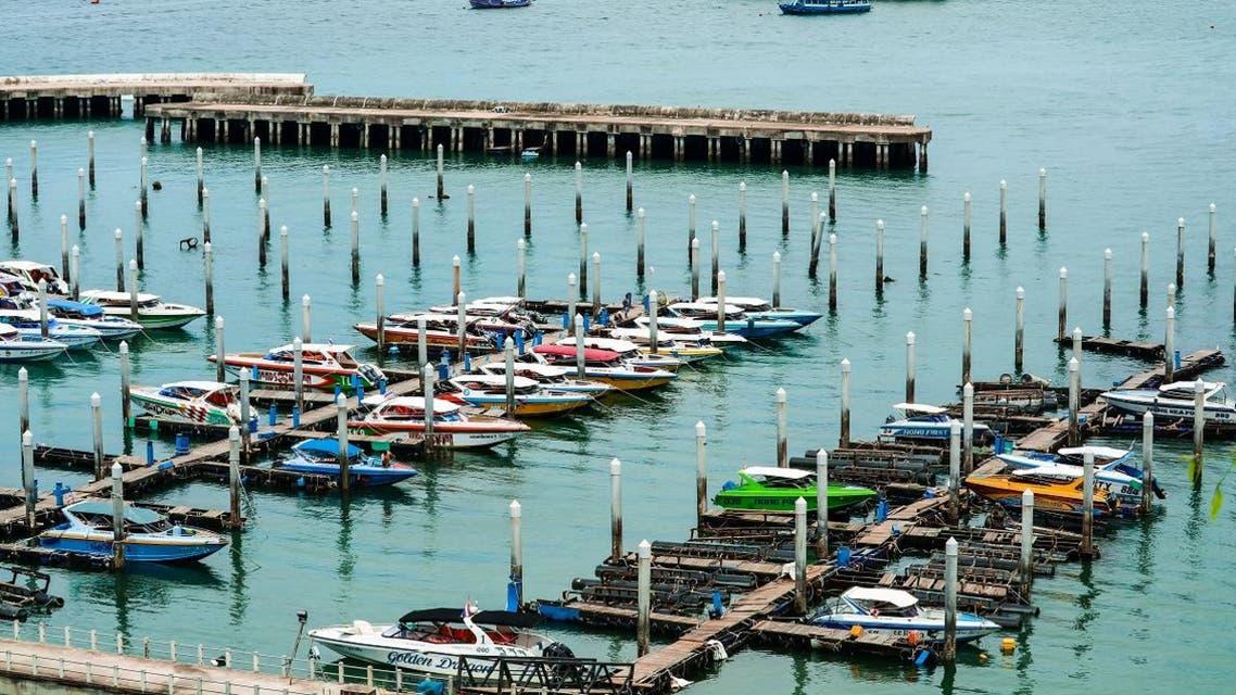 Bali hai pier, Pattaya city, Chonburi province Thailand. Pattaya city and pier port and parking at Bali hai pier - Image SHUTTERSTOCK