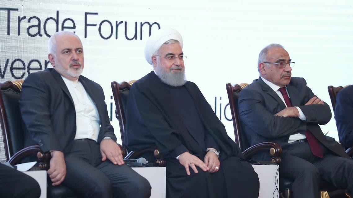 جانب من زيارة روحاني للعراق