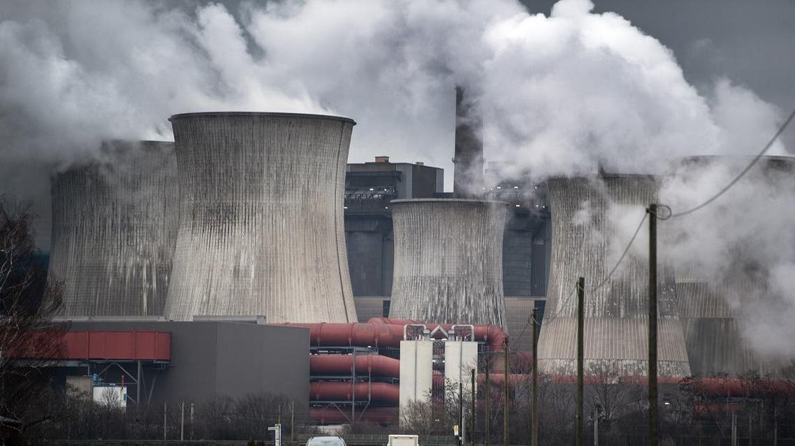 Picture taken on January 16, 2019 shows the Niederaussem lignite fired power plant in Niederaussem, western Germany. (AFP)