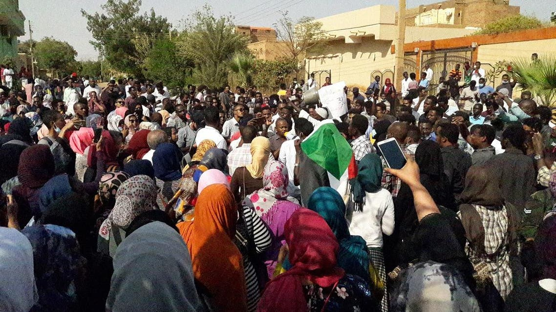 Sudanese protesters chant slogans during an anti-government demonstration in the capital Khartoum's twin city of Omdurman. (File photo: AFP)