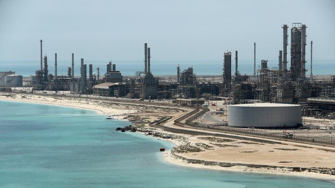 General view of Saudi Aramco's Ras Tanura oil refinery and oil terminal in Saudi Arabia. (Reuters)