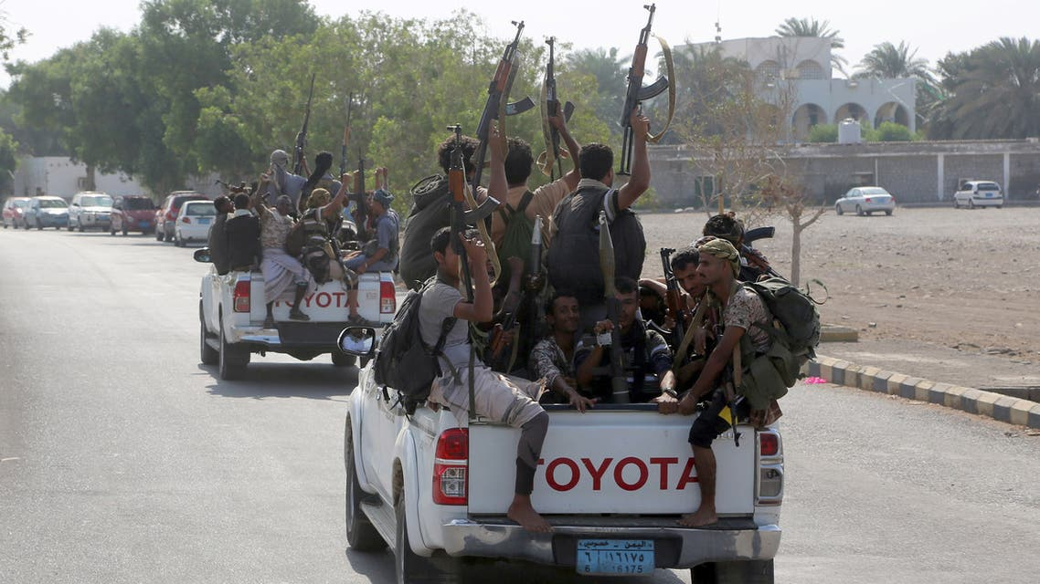 Yemeni Shiite Huthi rebel fighters are pictured in the port city of Hodeidah on December 29, 2018, as the beginning of their pull back from the Red Sea port was announced. Yemeni rebels have begun to withdraw from the lifeline port of Hodeida, under an agreement reached in Sweden earlier this month, a UN official said today.