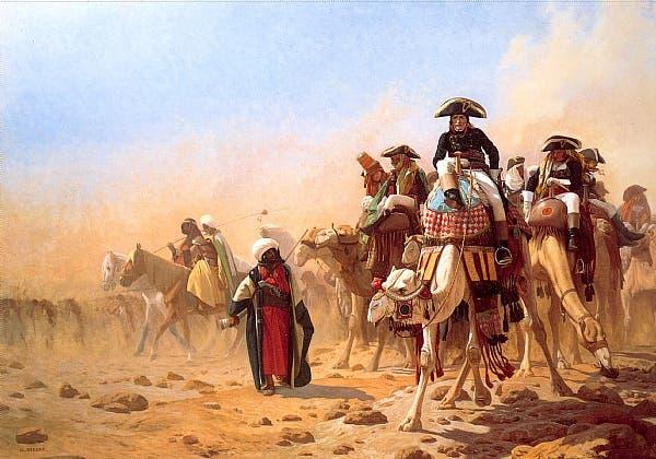 لوحة زيتية تجسد نابليون بونابرت بمصر
