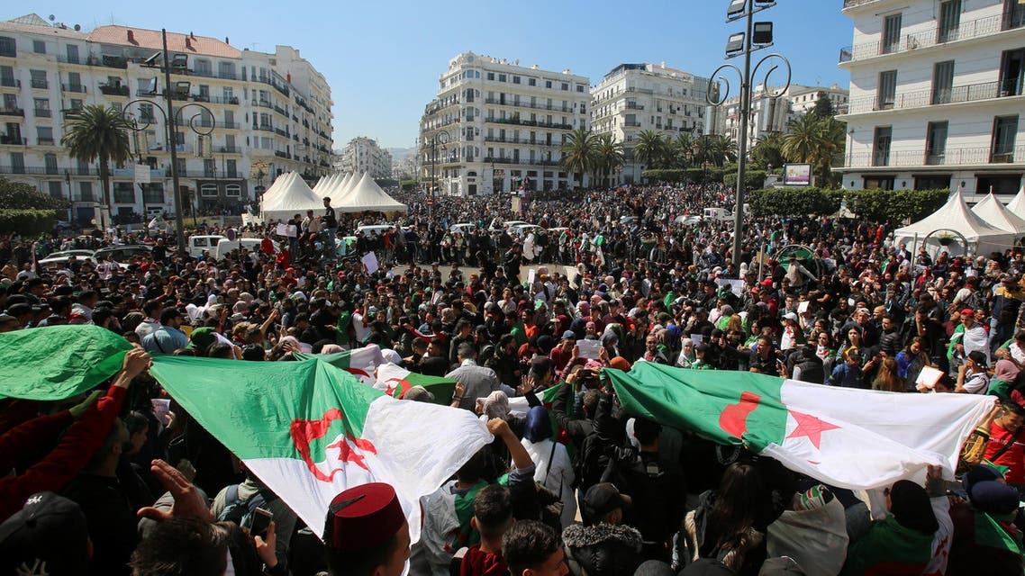 People take part in a protest demanding immediate political change in Algiers, Algeria March 12, 2019. REUTERS/Ramzi Boudina