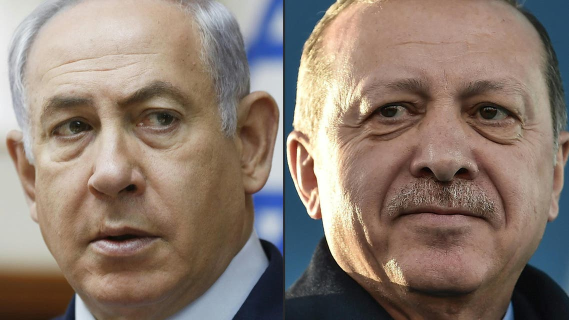 Erdogan (right) is a vocal critic of Israeli policies. (AFP)
