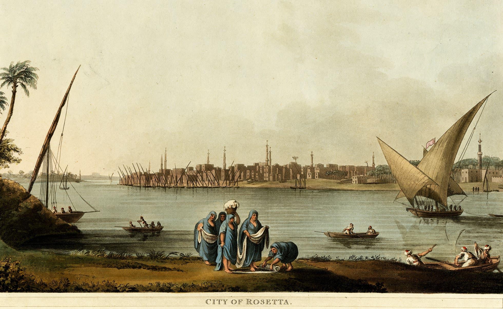 رسم تخيلي لمدينة رشيد قديما