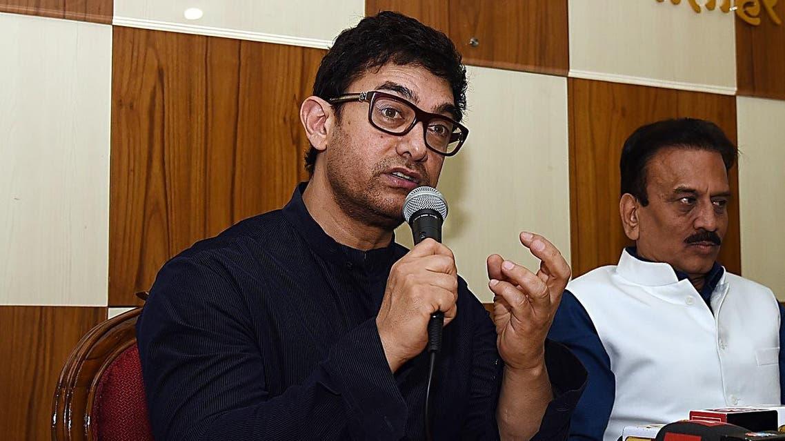 Indian Bollywood actor Aamir Khan (L) (AFP)