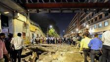Mumbai bridge near main train station collapses kiling six