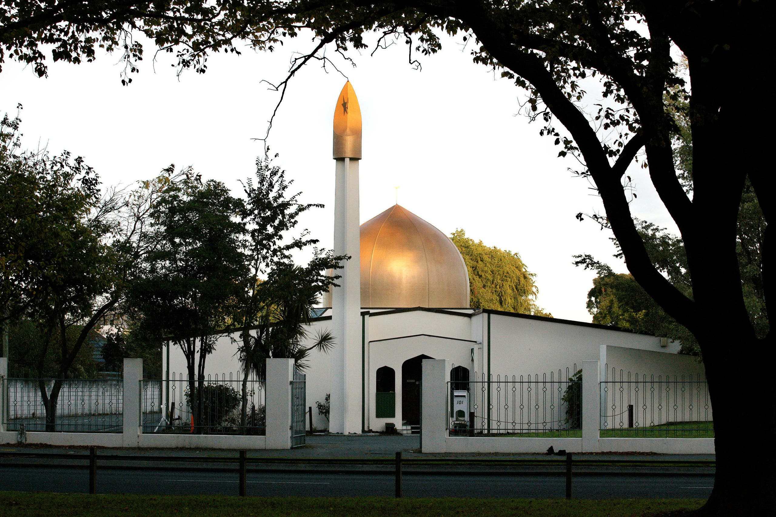 A view of the al-Noor Mosque on Deans Avenue in Christchurch, New Zealand, taken in 2014. (Reuters)