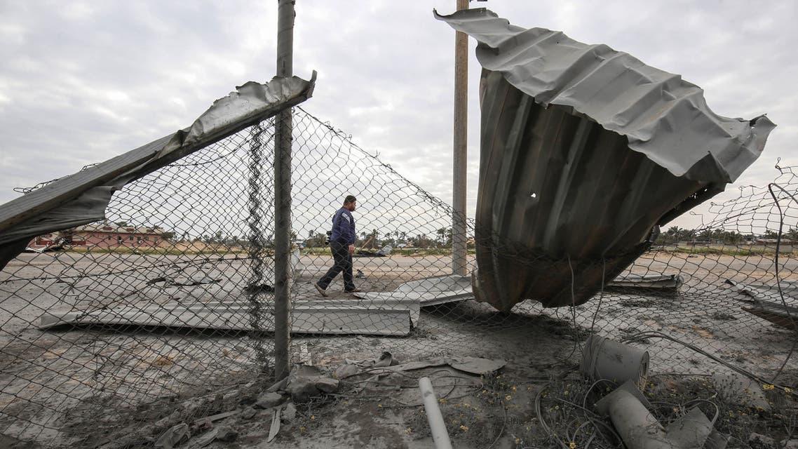 موقع غارة إسرائيلية على غزة