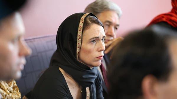 رئيسة وزراء نيوزيلندا أثناء اللقاء مع الجالية المسلمة