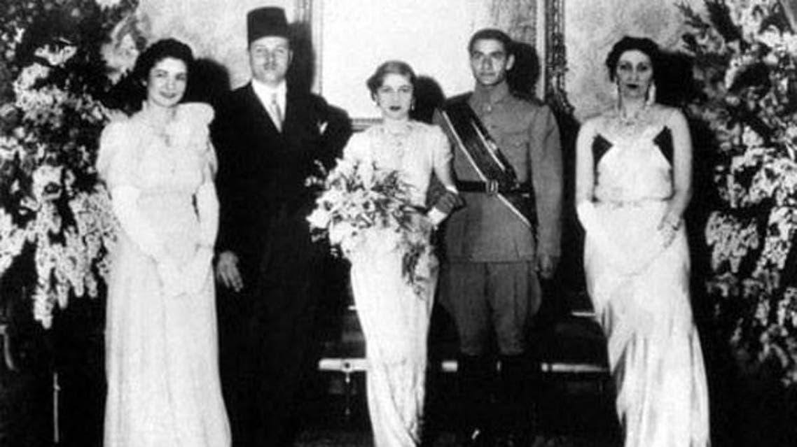مراسم ازدواج محمدرضا پهلوی، ولیعهد وقت ایران و شاهزاده فوزیه، خواهر ملک فواد در قاهره