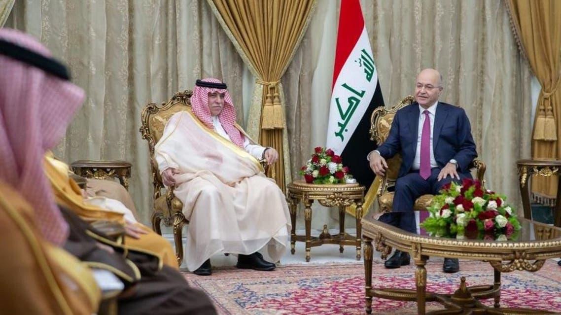 برهم صالح وماجد القصبي في بغداد