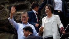South Korean president delights tourists at Angkor Wat