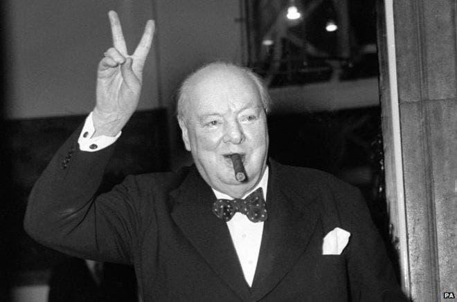 صورة لرئيس الوزراء البريطاني ونستون تشرشل