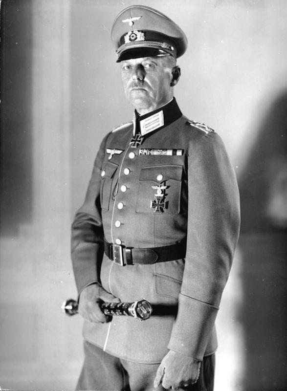 صورة للجنرال الألماني غيرد فون رونتشتيت