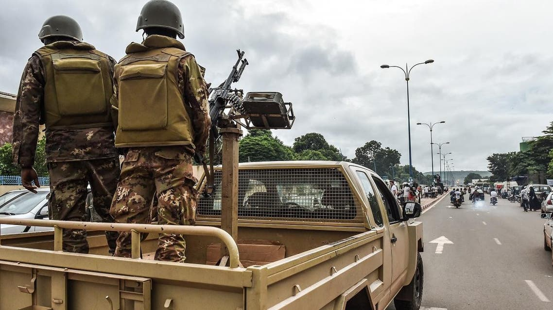 Malian soldiers patrol in the streets of Bamako on July 27, 2018. (AFP)