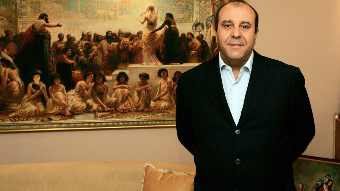 بلحسن الطرابلسي في مكتبه بتونس في 2010