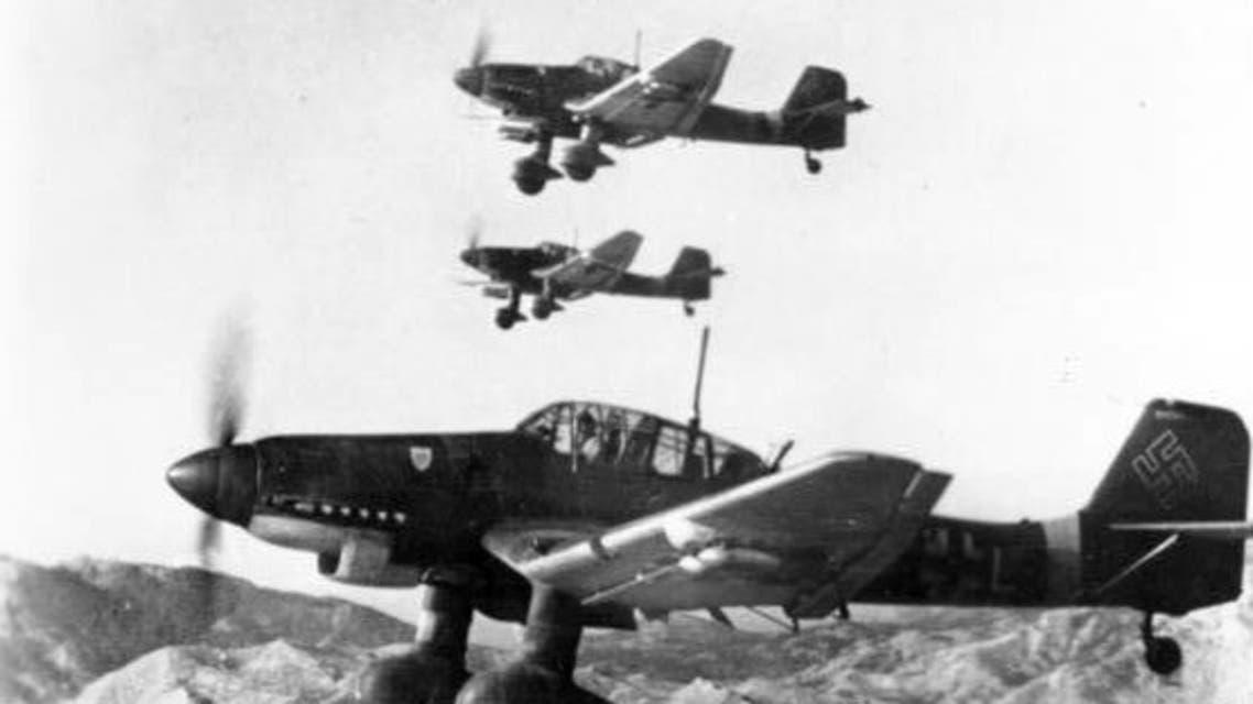 صورة لعدد من الطائرات الألمانية بالحرب العالمية الثانية