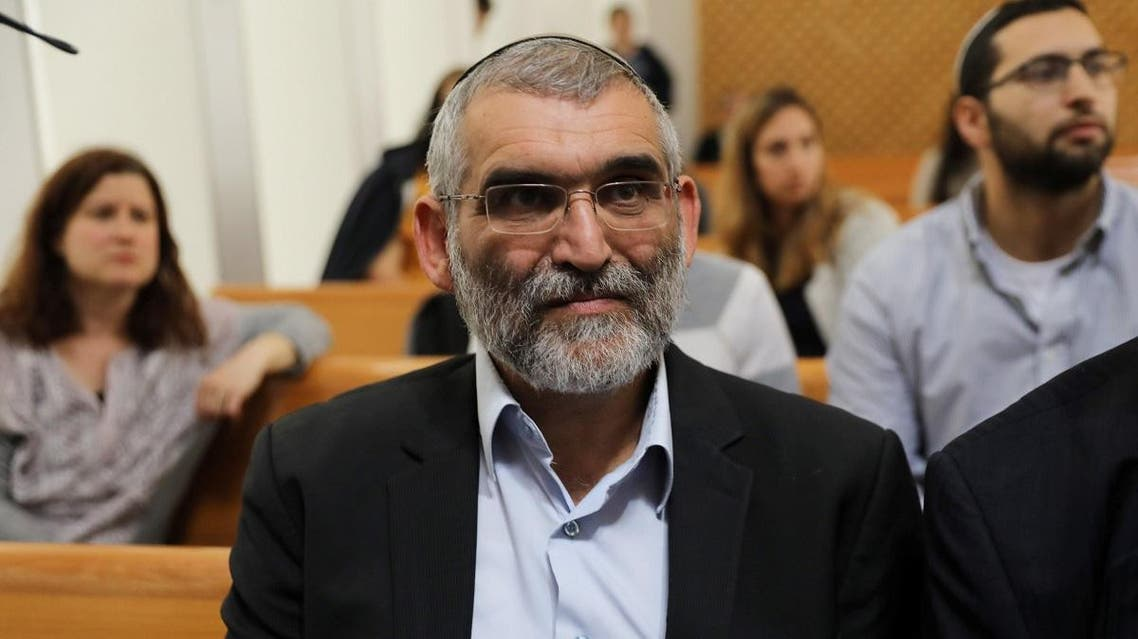 Michael Ben-Ari from the Jewish Power party, attends a hearing at Israel's Supreme Court in Jerusalem March 13, 2019. (Reuters)
