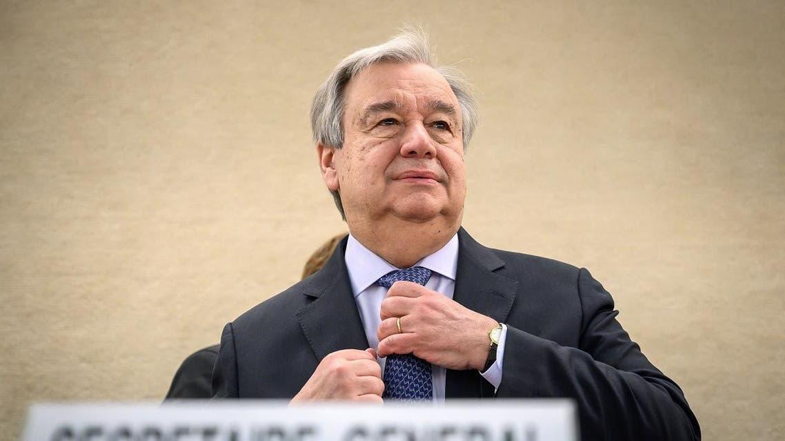 UN Secretary-General Antonio Guterres. (AFP)