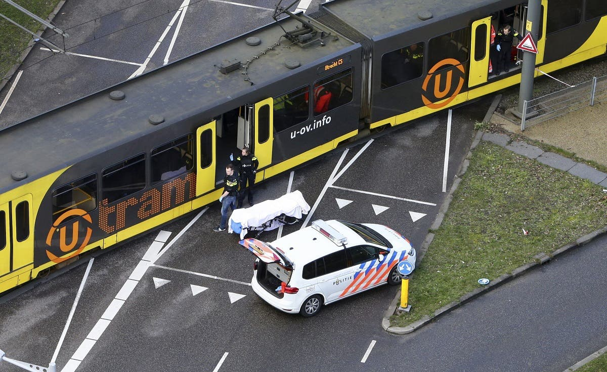 Special Police forces inspect a tram in Utrecht where a shooting took place. (AFP)