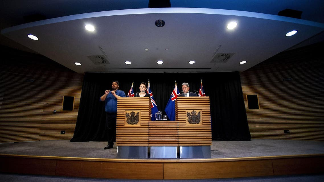 New Zealand PM Jacinda Ardern and Deputy PM Winston Peters speak to the media during a Post Cabinet media press conference at Parliament in Wellington on March 18, 2019. (File photo: AFP)