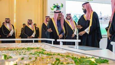 بالصور.. الملك سلمان يطلق 4 مشاريع كبرى في الرياض