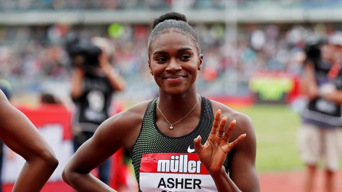 British sprinter Dina Asher-Smith, a triple European gold medalist. (Reuters)