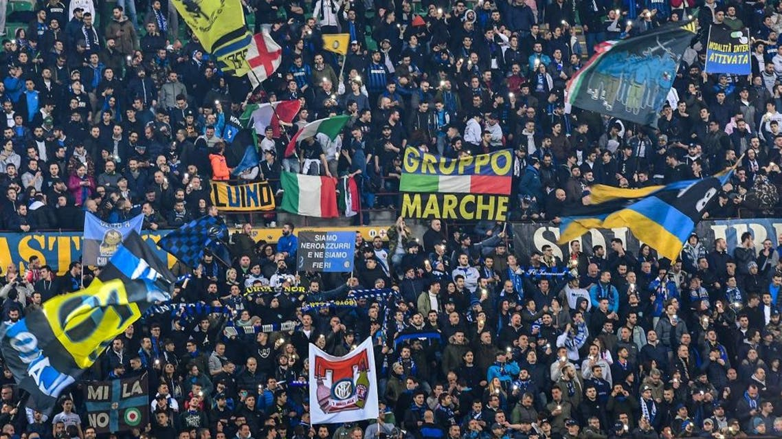 Inter Milan fans cheer during the UEFA Europa League. (File photo: AFP)