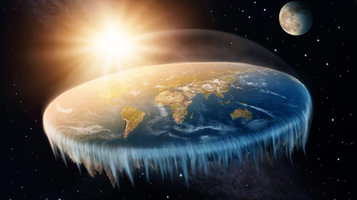 Flat Earth - Stock image