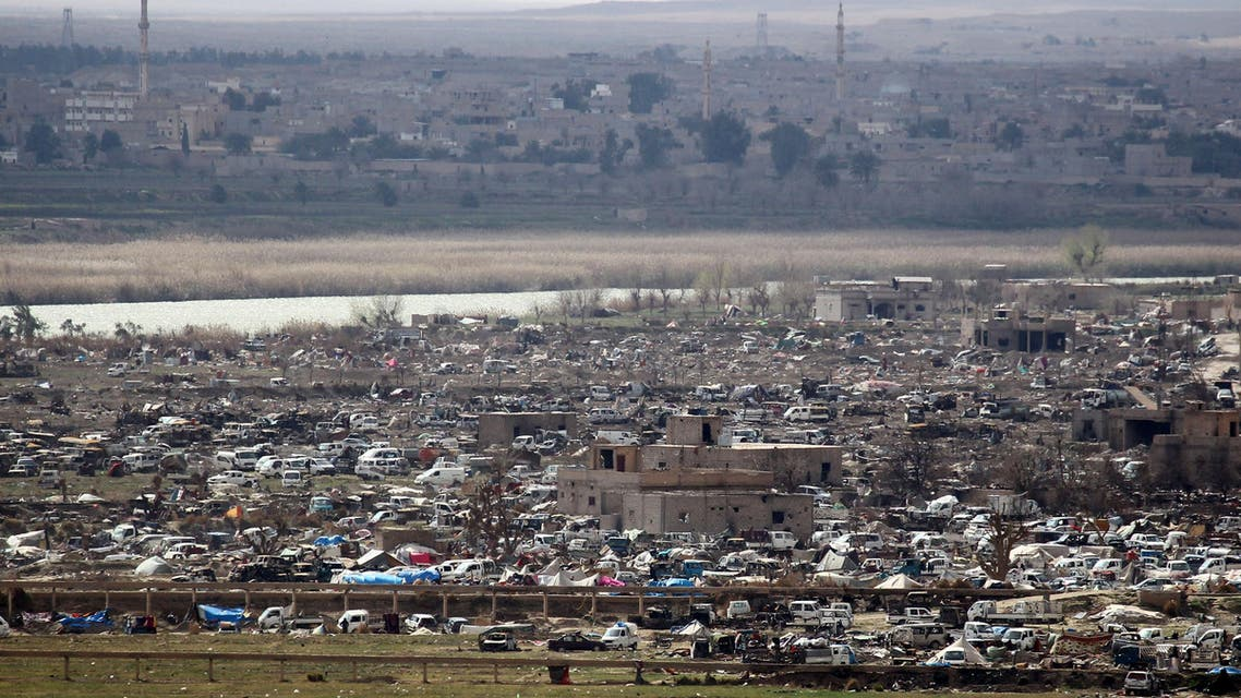 A general view of the last besieged neighborhood in the village of Baghouz, Deir Al Zor province, Syria March 17, 2019. REUTERS/Stringer