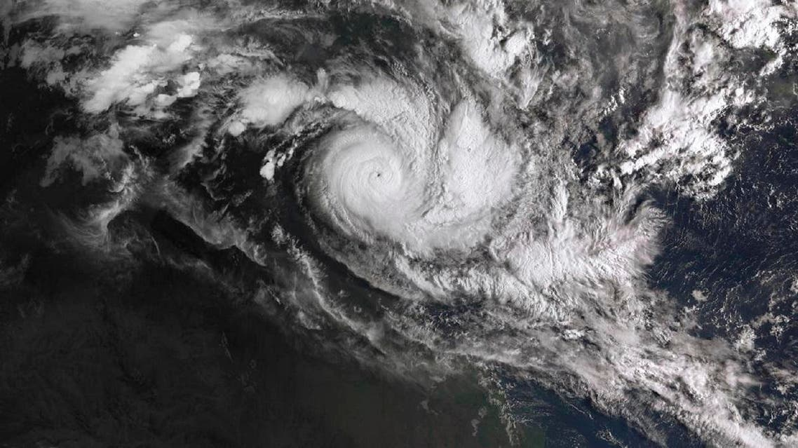 In a satellite image acquired from the Australian Bureau of Meteorology, Cyclone Trevor moves over the Northern Territory. (AP)