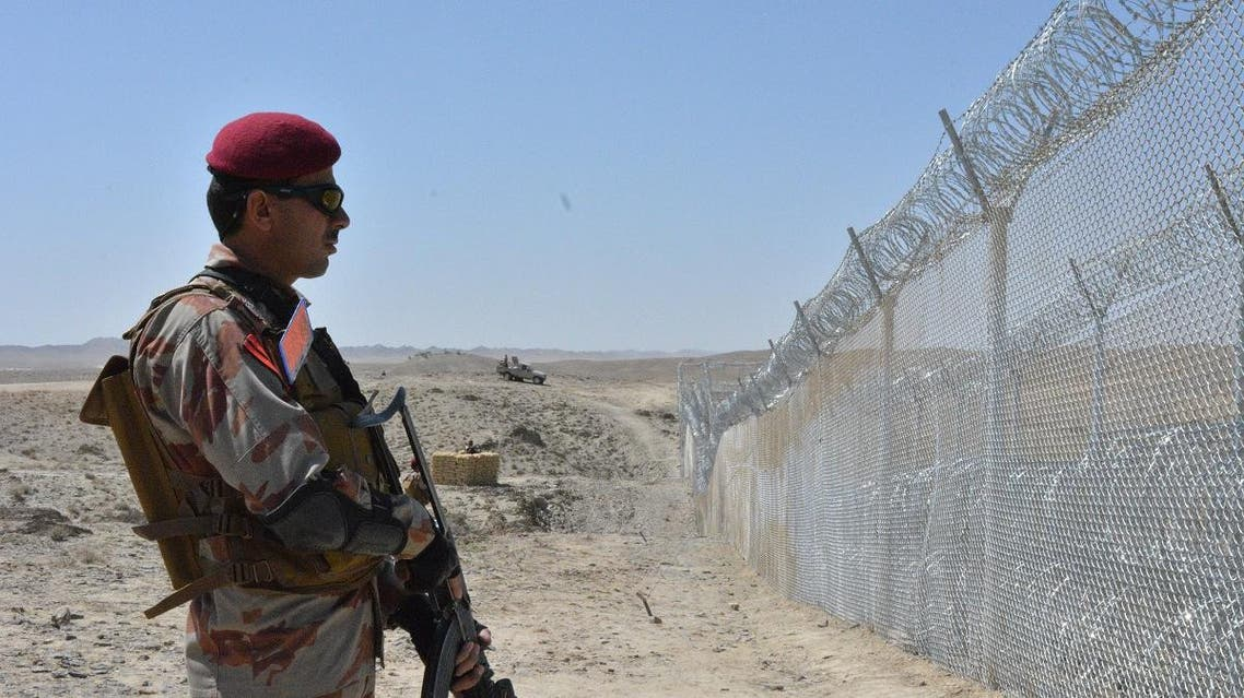 A Pakistani army soldier stands guard along the Pakistan-Afghan border at Panjpai in the state of Balochistan. (AFP)
